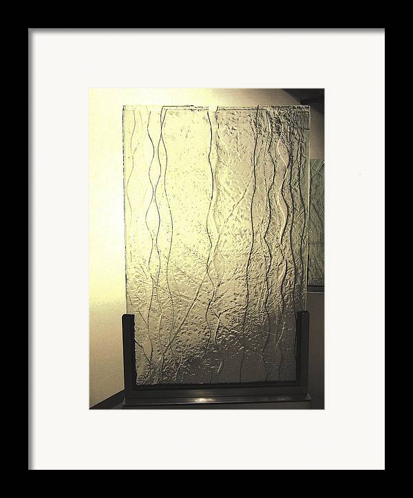Glass Framed Print featuring the sculpture 'the Iris River' by Sarah king