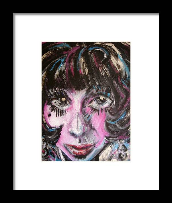 Jazz Framed Print featuring the painting The Jazz Singer by Jenni Walford
