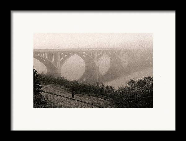 Nature Framed Print featuring the photograph The Jogger by Arnold Isbister