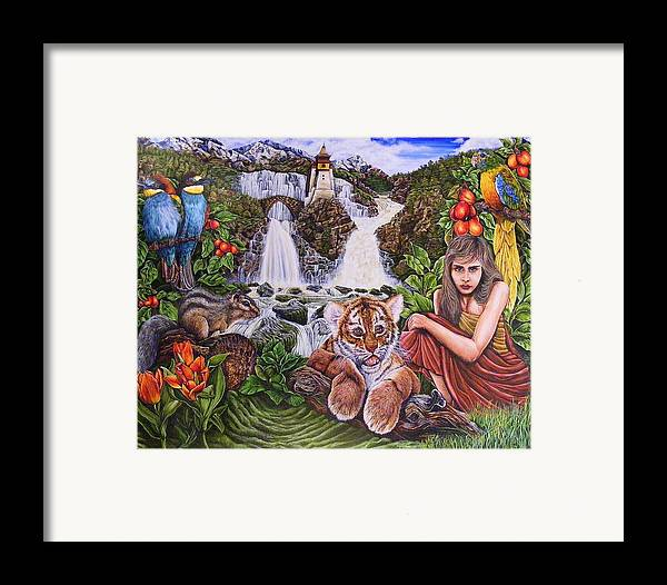 Dreamscape Framed Print featuring the painting The Journey by Donald Dean