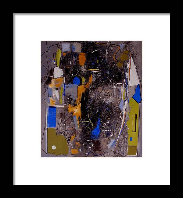 Abstract Framed Print featuring the painting The Journey by Ruth Palmer