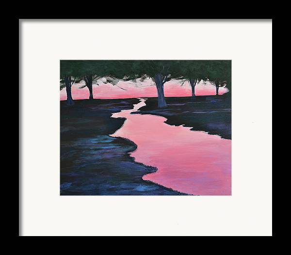 Landscape Framed Print featuring the painting The Journey by Sheryl Sutherland