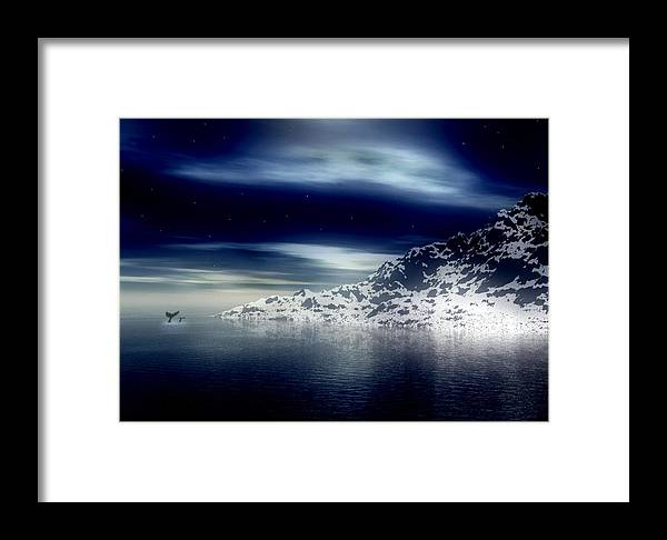 Arctic Framed Print featuring the digital art The Journey Together by Kenneth Krolikowski