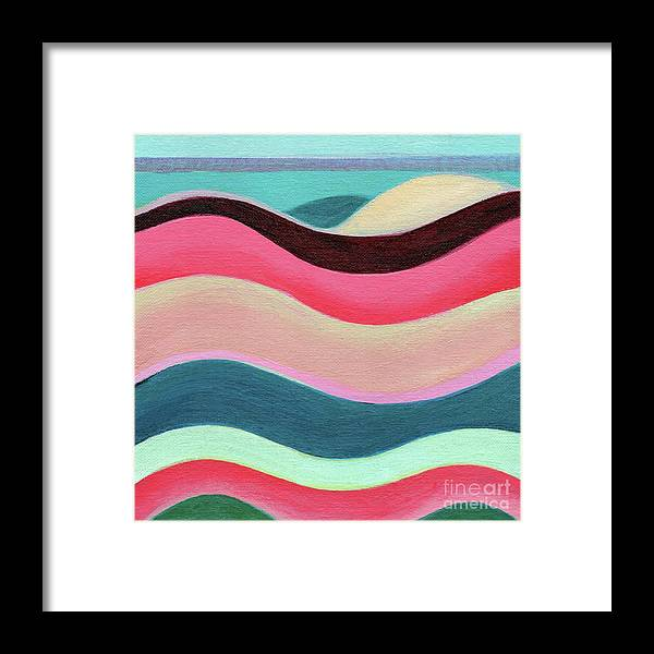 The Joy Of Design Framed Print featuring the painting The Joy Of Design X L V by Helena Tiainen