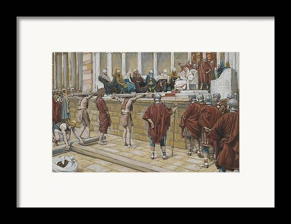 Tissot Framed Print featuring the painting The Judgement On The Gabbatha by Tissot