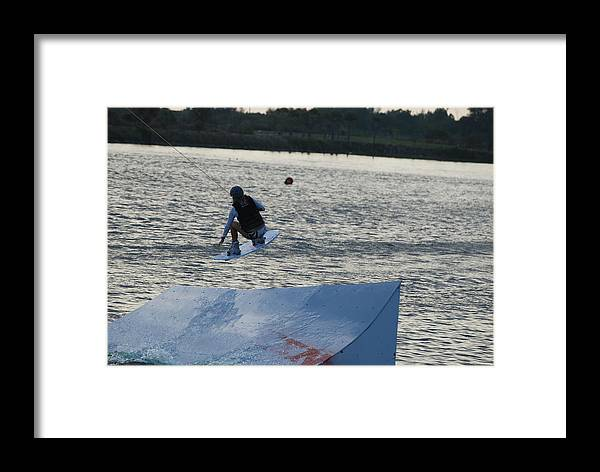Water Framed Print featuring the photograph The Jump by Rob Hans