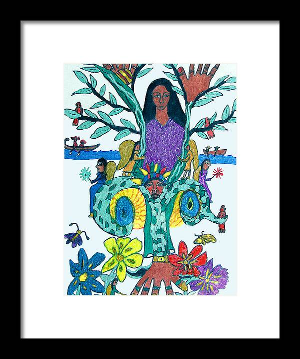 Framed Print featuring the painting The Kakno Place Of Fantasy by Betty Roberts