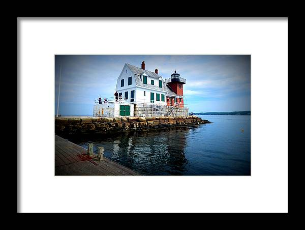 The Keeper's House Framed Print featuring the photograph The Keeper's House by Karen Cook