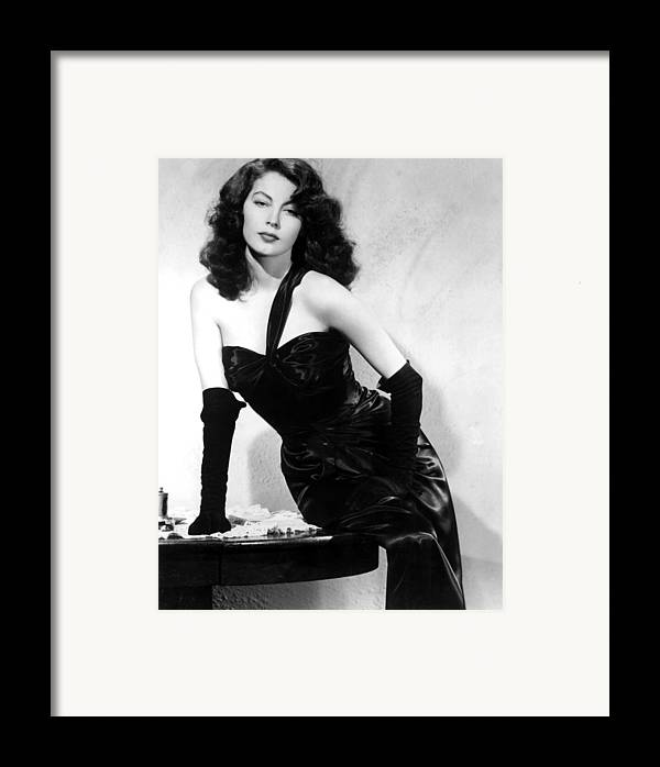 1940s Portraits Framed Print featuring the photograph The Killers, Ava Gardner, 1946 by Everett