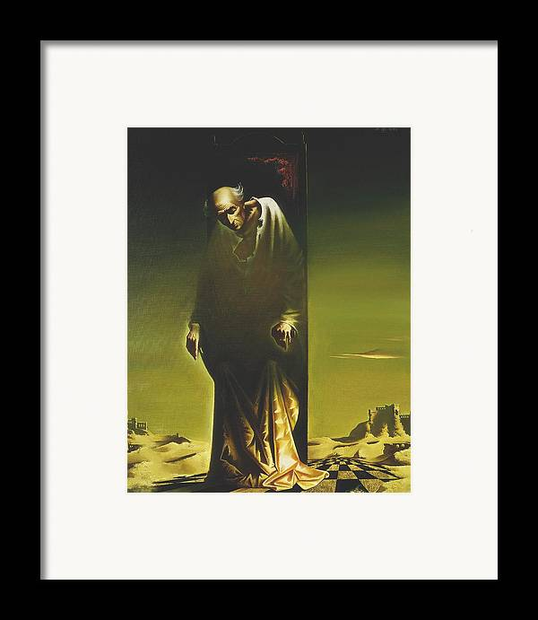 Figures Framed Print featuring the painting The King by Andrej Vystropov