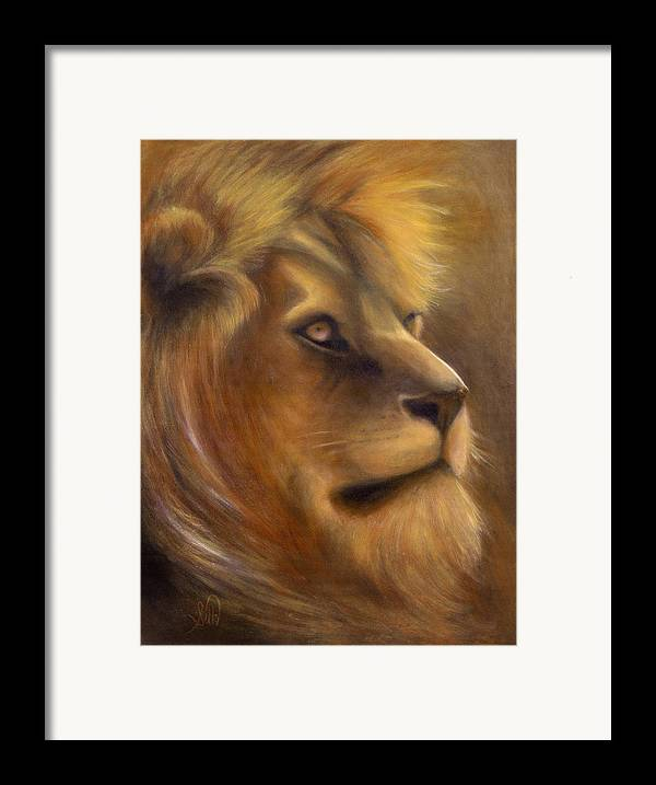 Regal Framed Print featuring the painting The King by Elizabeth Silk