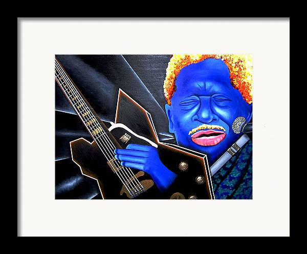 Portrait Framed Print featuring the painting The King by Nannette Harris