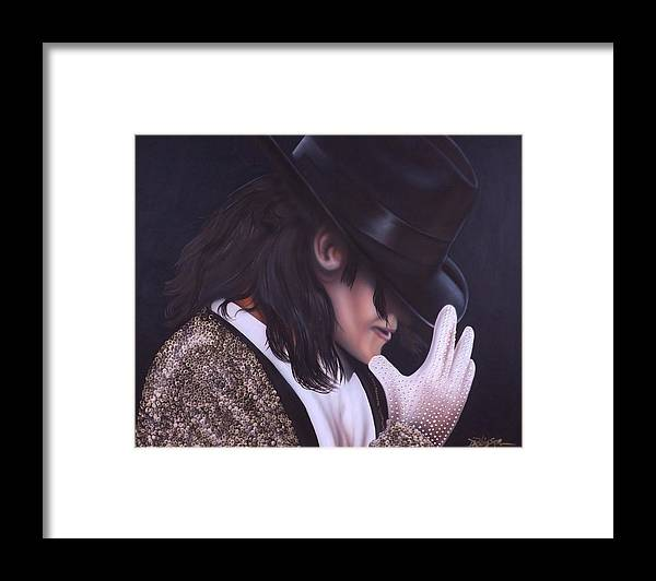 The King Of Pop Framed Print featuring the painting The King of Pop by Darren Robinson