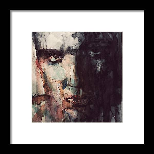 Elvis Framed Print featuring the painting The King by Paul Lovering