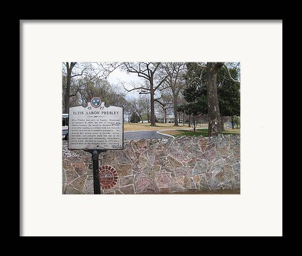 Elvis Framed Print featuring the photograph The Kings Land by Jame Hayes