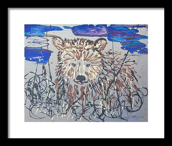 Abstract/impressionist Painting Framed Print featuring the painting The Kodiak by J R Seymour