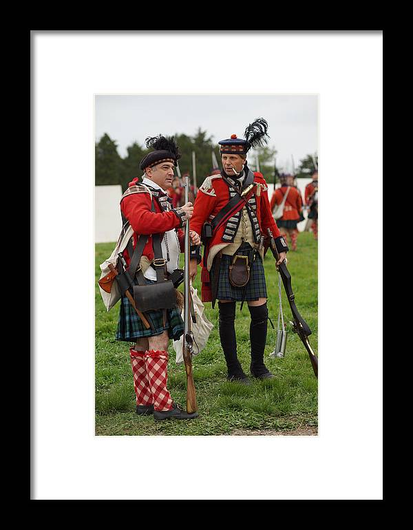 Scottish Soldiers Framed Print featuring the photograph The Ladies From Hell by Carrie Goeringer