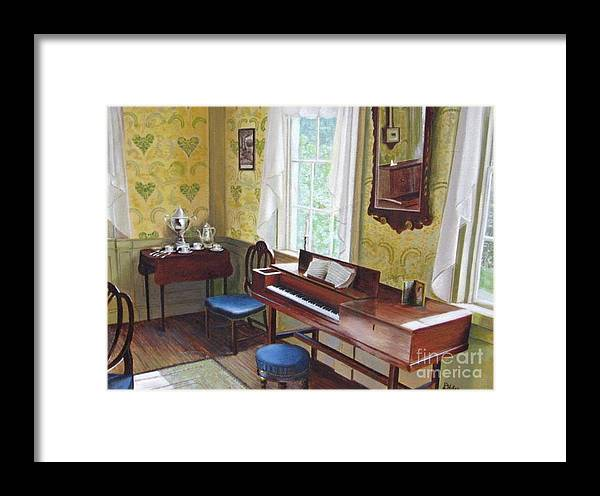 Paintings Framed Print featuring the painting The Ladies Parlor by Donald Hofer