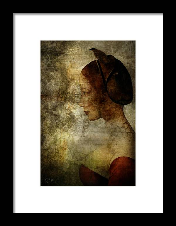 Lady Framed Print featuring the digital art The Lady by Joyce Maris