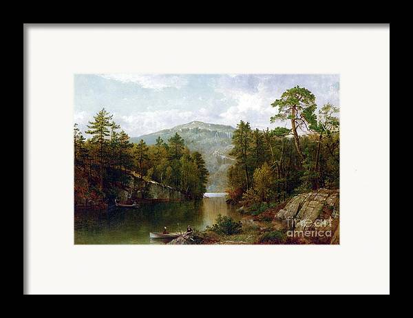 The Lake George Framed Print featuring the painting The Lake George by David Johnson