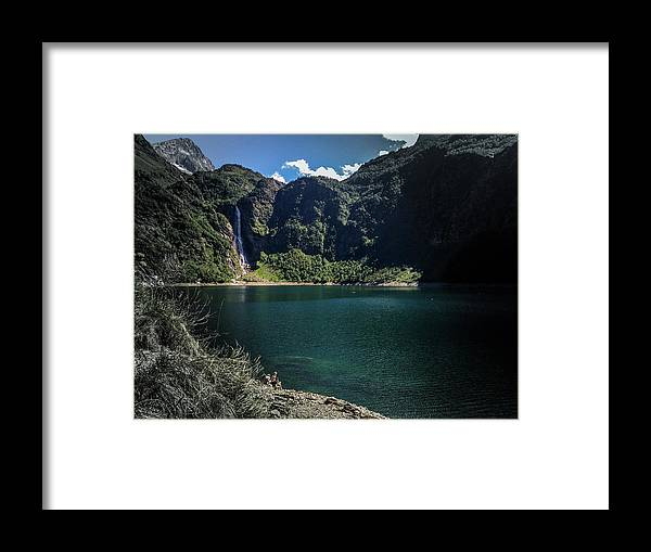 Lake Framed Print featuring the photograph The Lake On A Mountain by Jay Lapointte