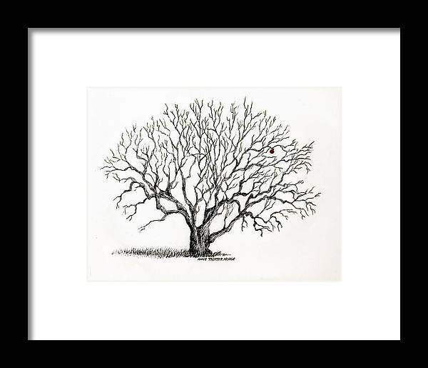 Landscape Framed Print featuring the print The Last Apple by Anne Trotter Hodge