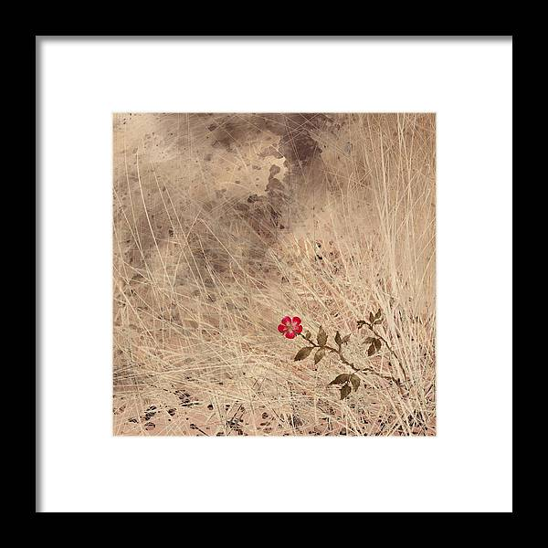 Abstract Framed Print featuring the digital art The Last Blossom by William Russell Nowicki
