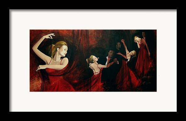 Art Framed Print featuring the painting The Last Dance by Dorina Costras
