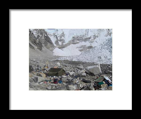 Tent Framed Print featuring the photograph The Last Expedition by Chris Bradley