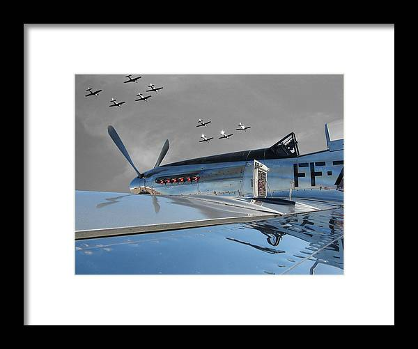 P-51 Framed Print featuring the photograph The Last Flight by Chaz McDowell