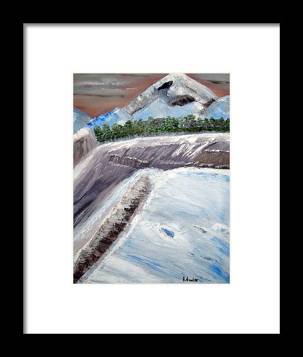 Glacier Framed Print featuring the painting The Last Glacier by Edwin Long