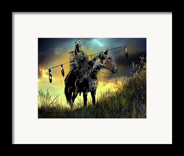 Native Americans Framed Print featuring the painting The Last Ride by Paul Sachtleben