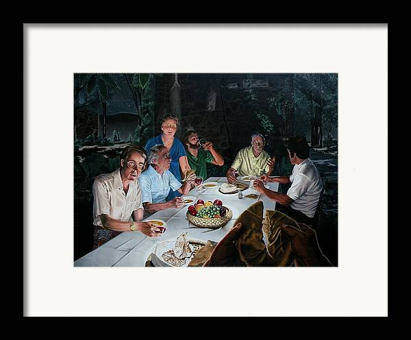 Last Supper Framed Print featuring the painting The Last Supper by Dave Martsolf
