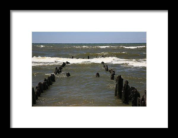 Sand Surf Framed Print featuring the photograph The Last Wooden Pier by Robert Pearson