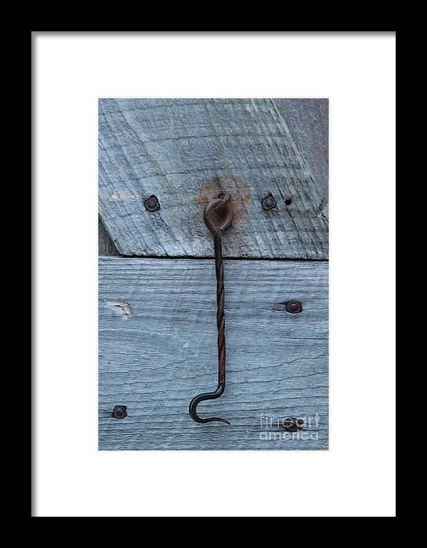 Swing Lock Framed Print featuring the photograph The Latch by Robert Pearson
