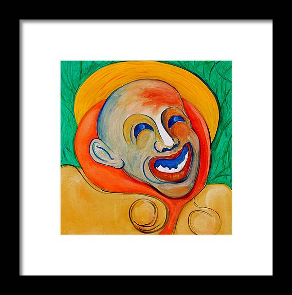 Clown Framed Print featuring the painting The Laugh Of A Clown by Dan Earle