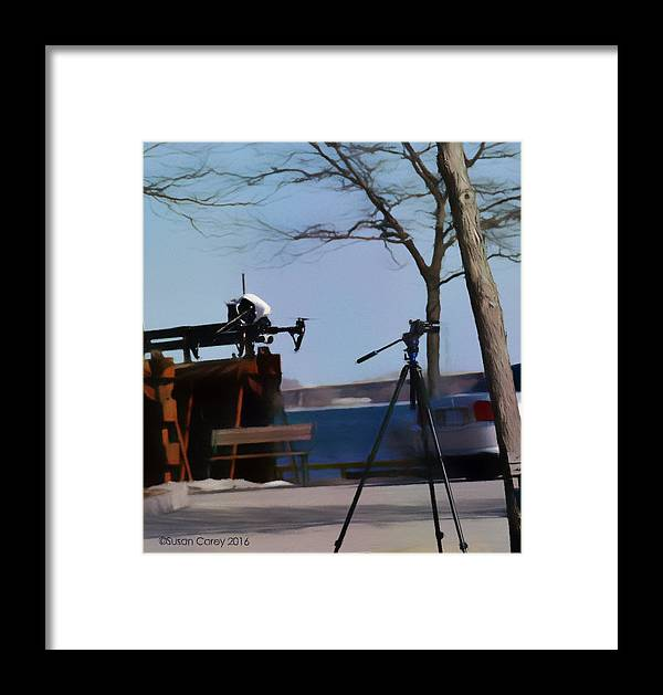 Drone Framed Print featuring the digital art The Launch by Susan Carey