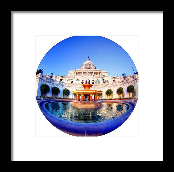 Capitol Framed Print featuring the photograph The Law Of Gravitation by Mitch Cat