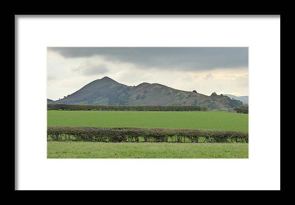Natural Framed Print featuring the photograph The Lawley From North East Fields by Richard Griffin