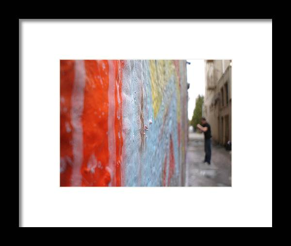 Urban Artwork Framed Print featuring the photograph The Layers Of Time by Chandelle Hazen