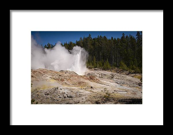 Chad Davis Framed Print featuring the photograph The Ledge by Chad Davis