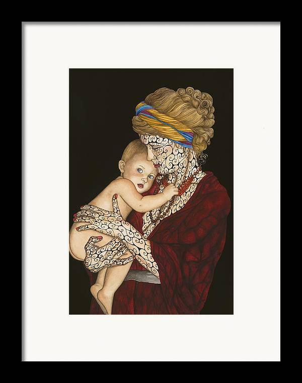 Figure Framed Print featuring the painting The Legacy by Tina Blondell
