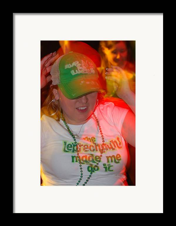 St. Patrick Framed Print featuring the photograph The Leprechauns Made Her Do It by Steven Crown