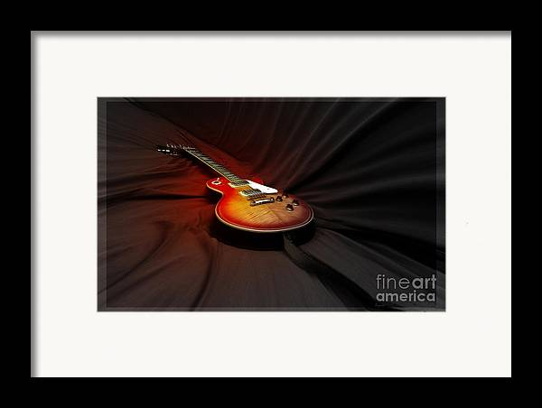 Guitar Framed Print featuring the photograph The Les Paul by Steven Digman