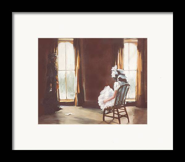 Victorian Framed Print featuring the painting The Letter by Linda Crockett