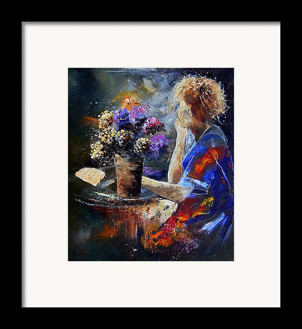 Girl Nude Framed Print featuring the painting The Letter by Pol Ledent