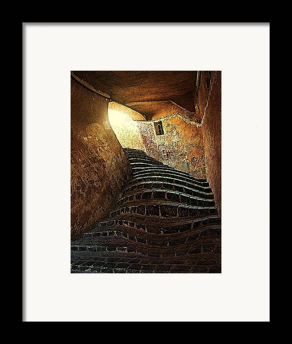 Fine Art Framed Print featuring the photograph The Light At The End Of The Tunel by Lucian Badea