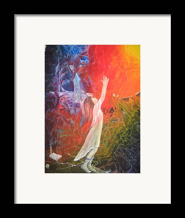 Cover Art Framed Print featuring the painting The Light by Jackie Mueller-Jones