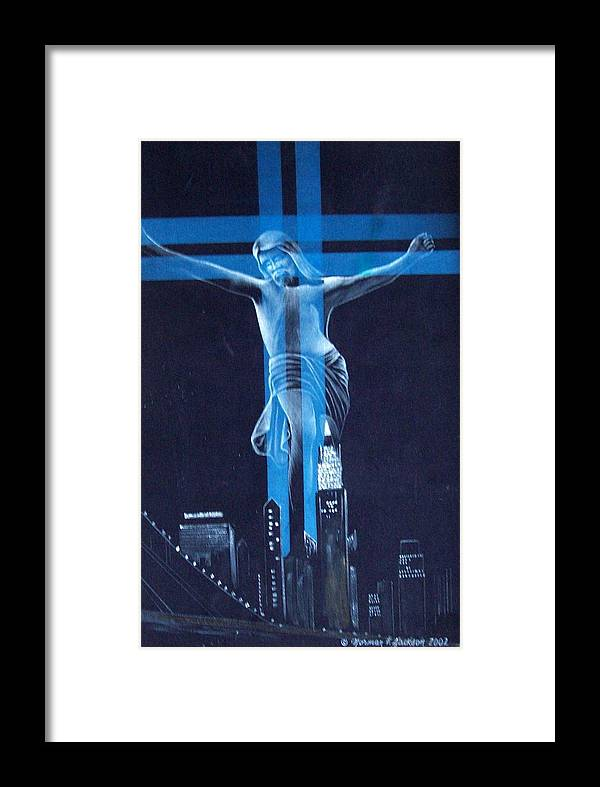 New York Framed Print featuring the painting The Light by Norman F Jackson