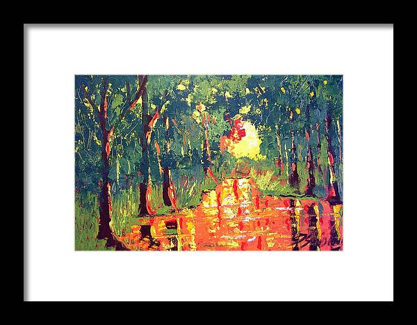 Light Framed Print featuring the painting The Light by Paul Sandilands